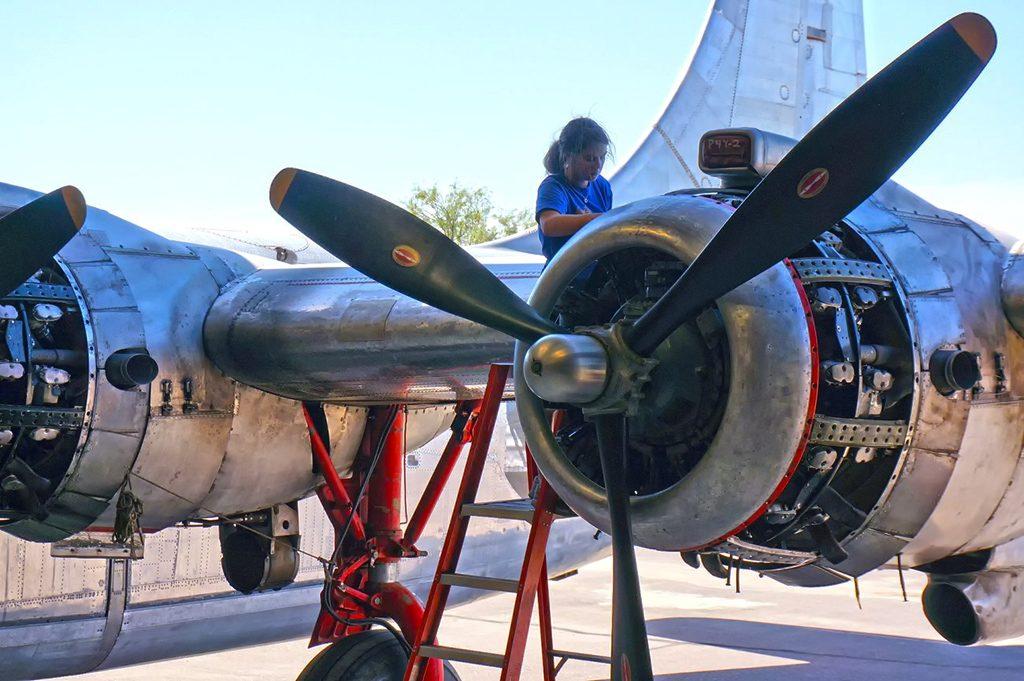 Engine maintenance on the #1 engine