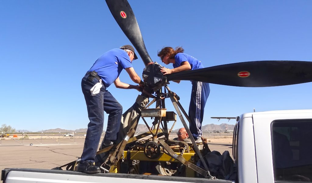 Sending the #2 prop out for overhaul