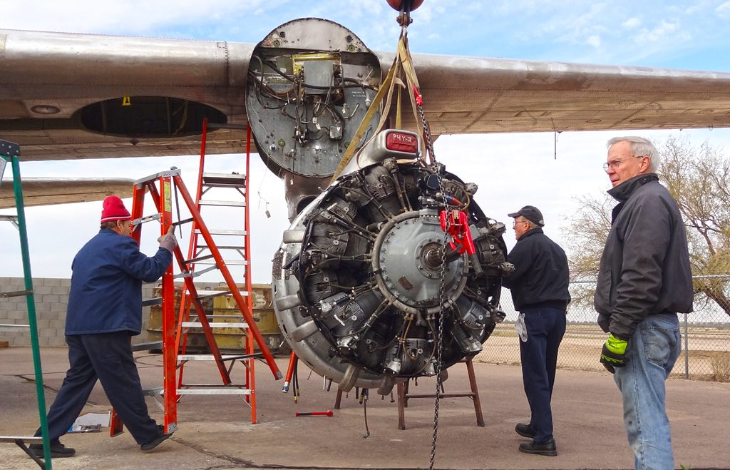 Preparing to install the #1 engine