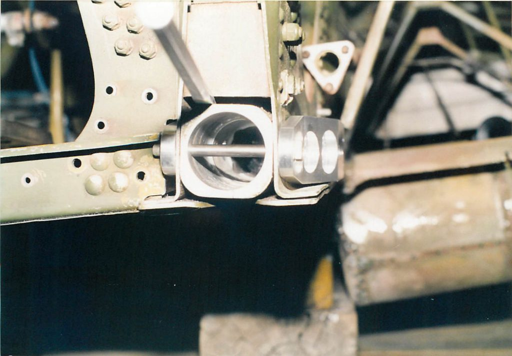 Wing attach socket, after repair