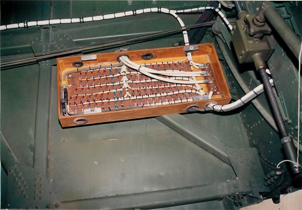 Aircraft wiring by Custom Connections, after restoration