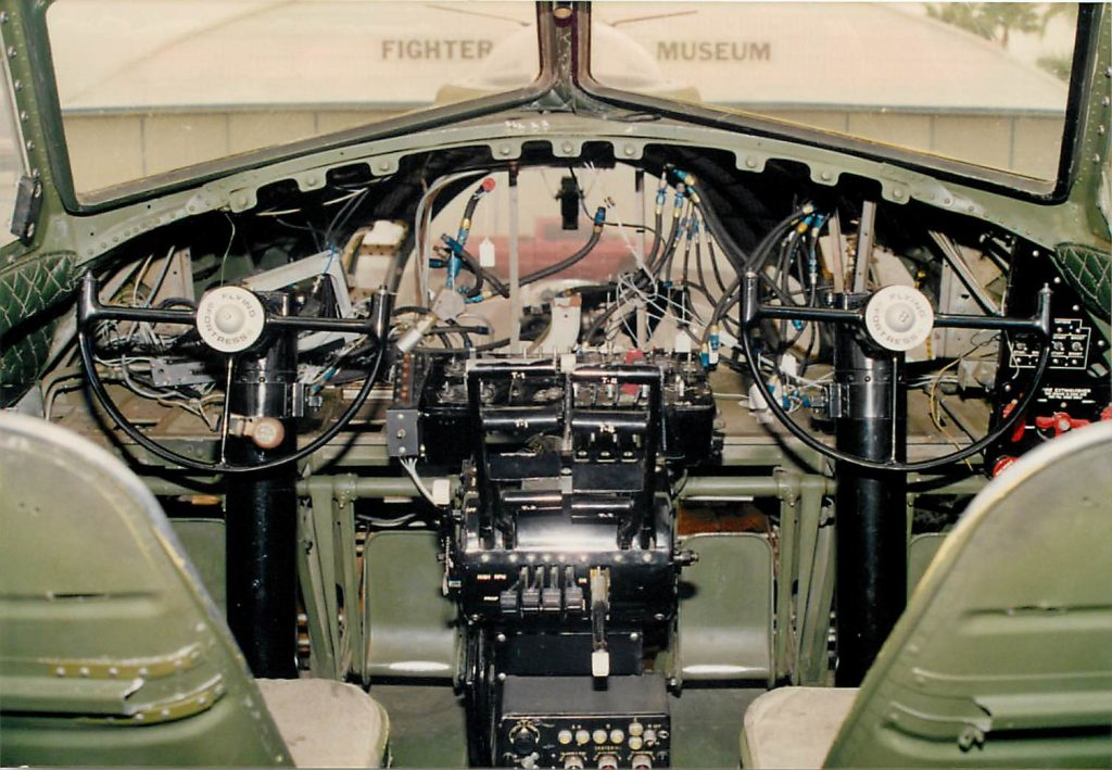 Cockpit, instrument panel and housing removed for modification