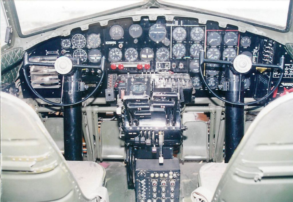 Cockpit, after instrument housing and panel modification