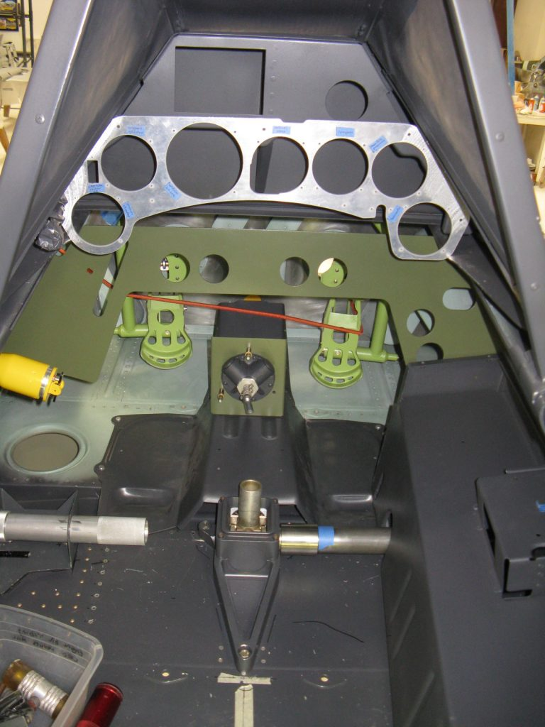 Installing instrument panels in cockpit