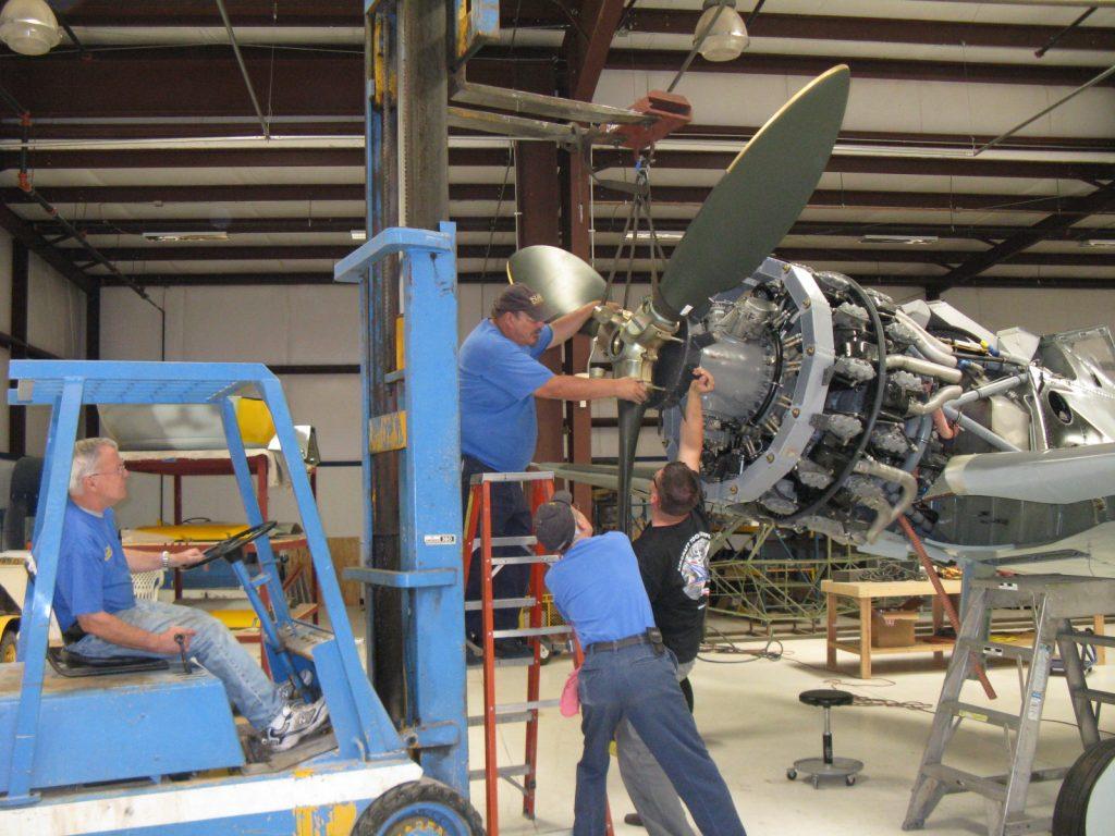 Installing propeller
