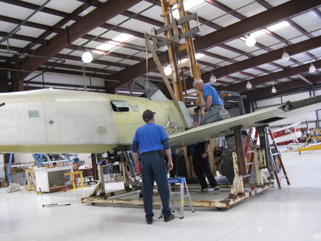 Joining fuselage to wing