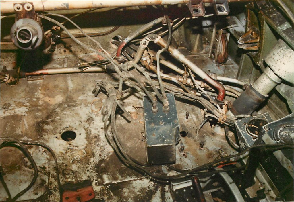 Floor of cockpit, before restoration