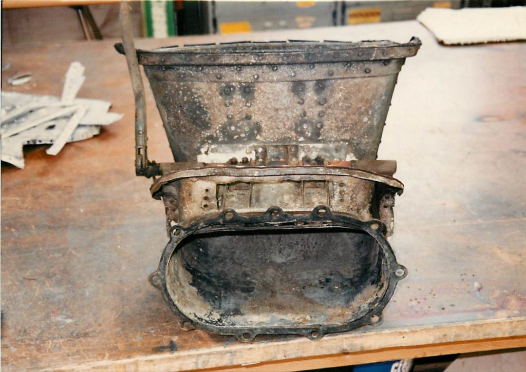 Carburetor scoop, before restoration