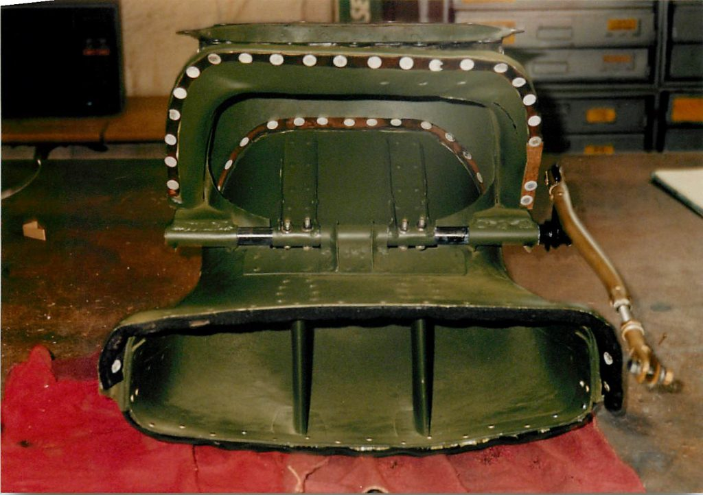 Carburetor scoop, after restoration