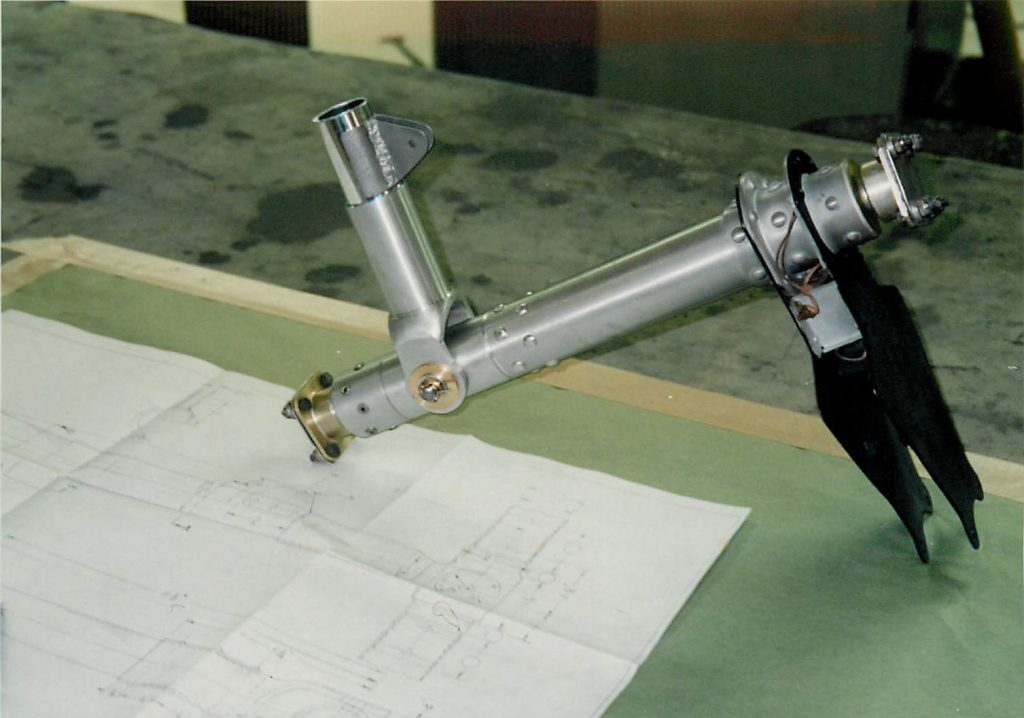 Fabricated control stick yoke