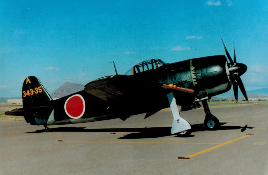 "Completed restoration of the Kawanishi N1K2-J ""George"""