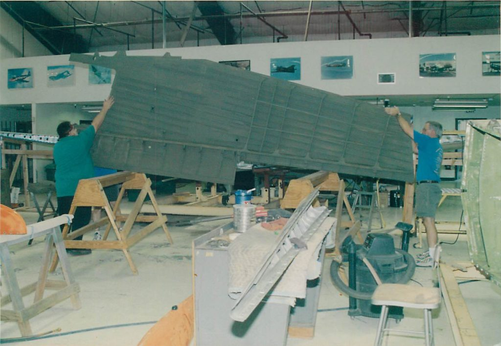 Wing, installing restored wing section