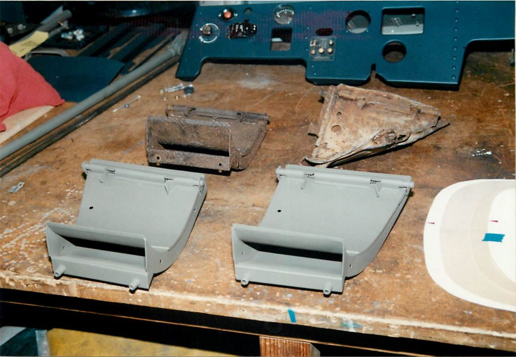 Ammo chutes, original and fabricated