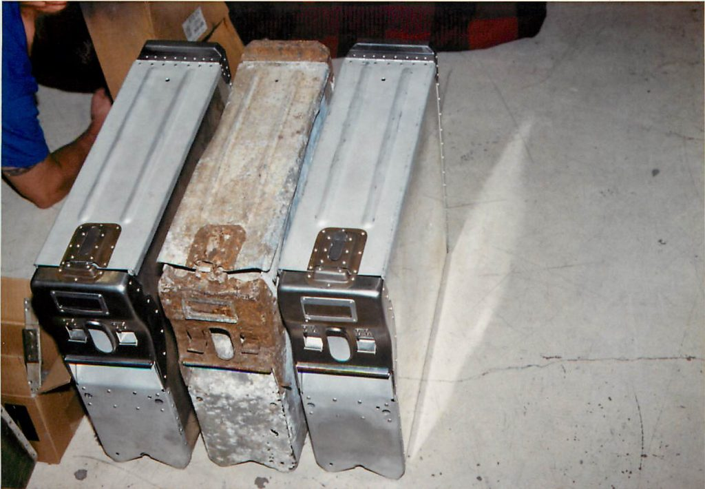 Ammo cans, original and fabricated