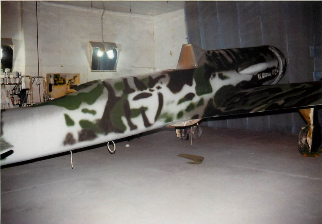Aircraft in painting process