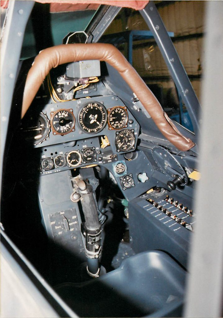 Cockpit, after restoration