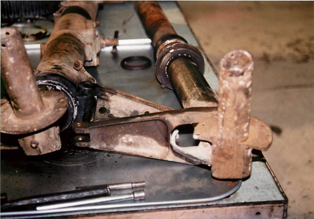Landing gear, before restoration