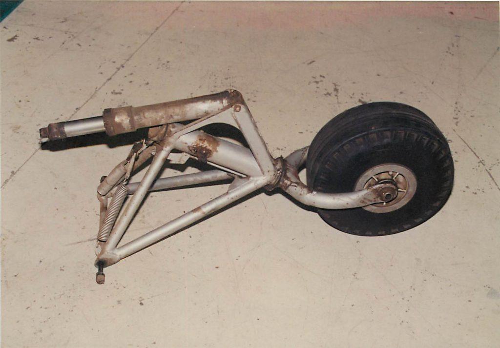 Tail wheel, before repair