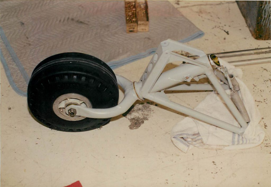 Tail wheel, after repair