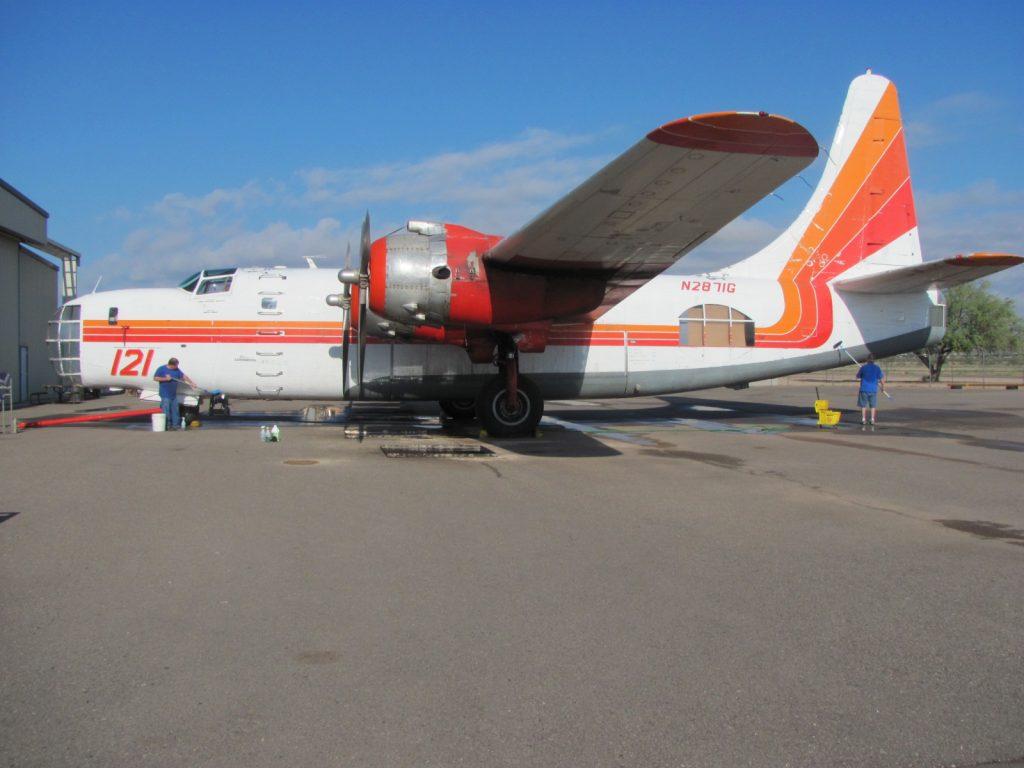 Washing aircraft before an airshow
