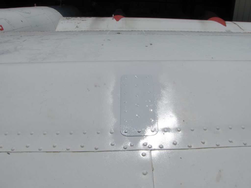 Freshly painted repair
