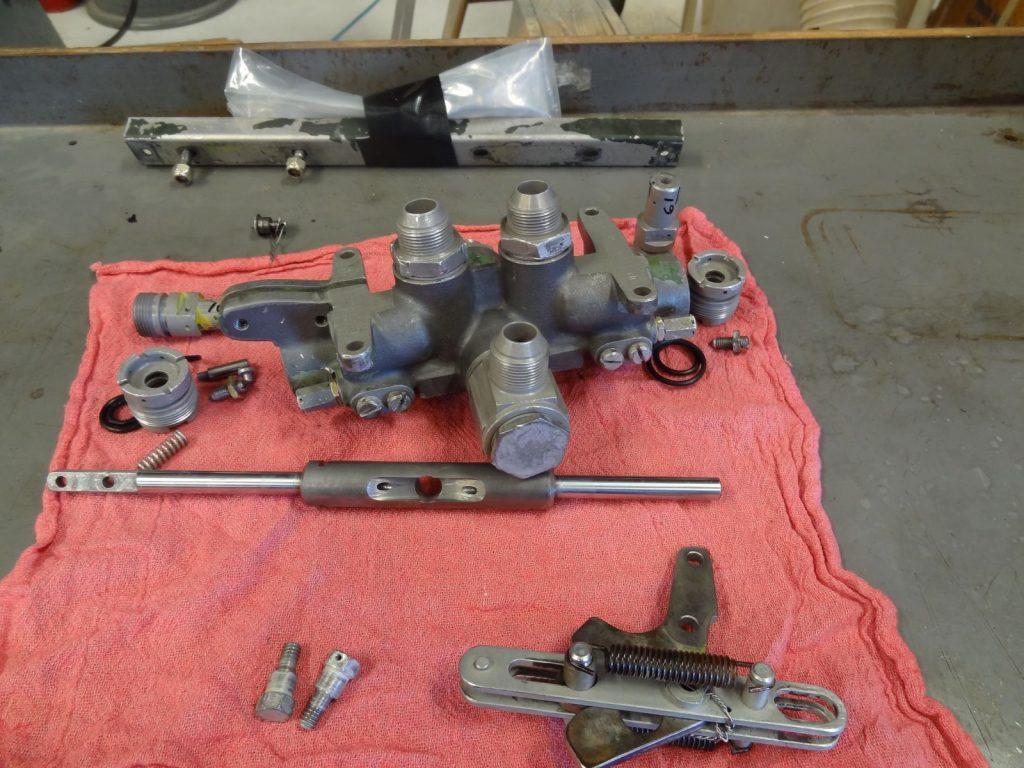 Teardown of landing gear selector valve