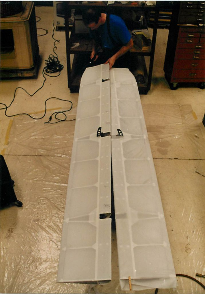 Control surfaces, in fabric covering process