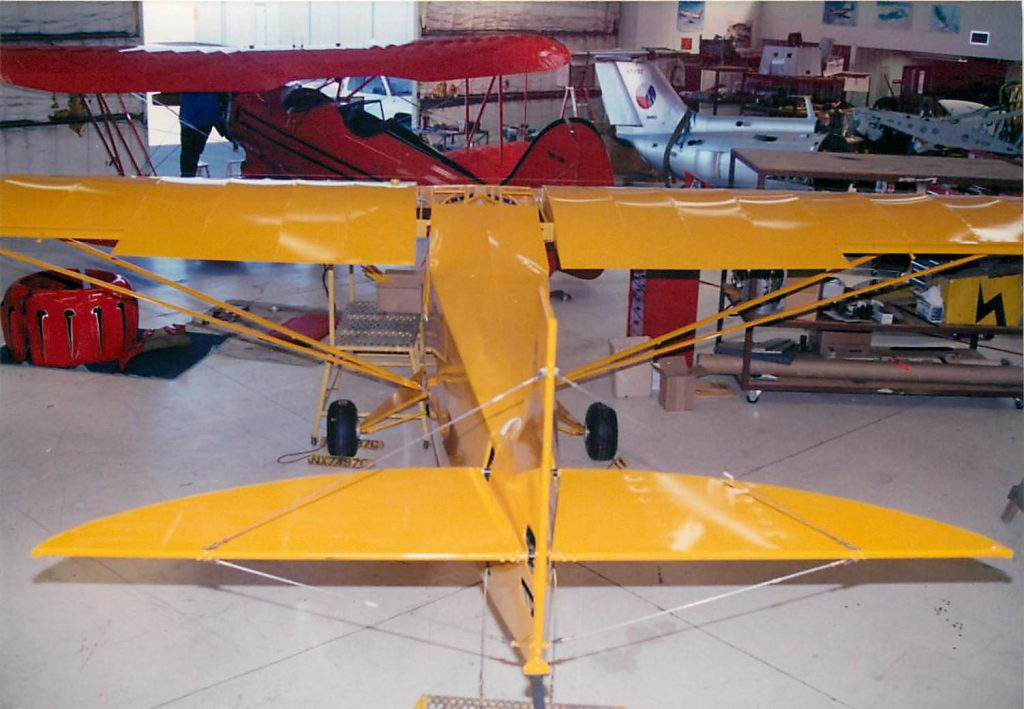 Aircraft with wings, fuselage and tail assembled