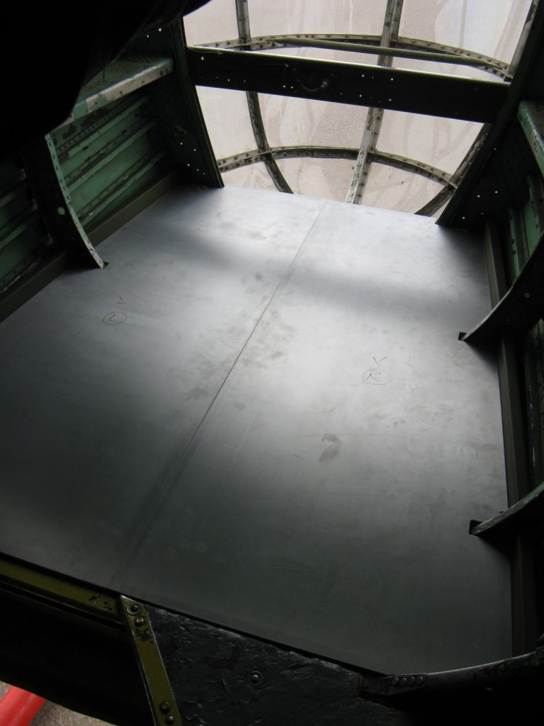 Fabricated nose flooring installed