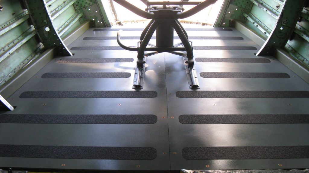 Anti-slip material installed