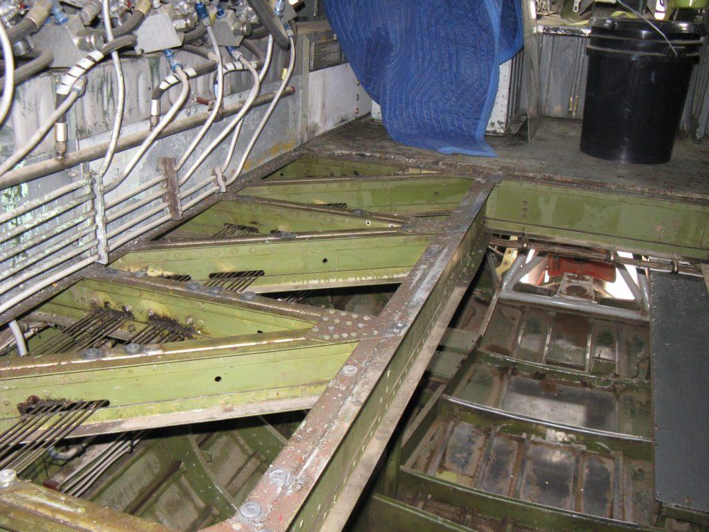 Cockpit flooring removed