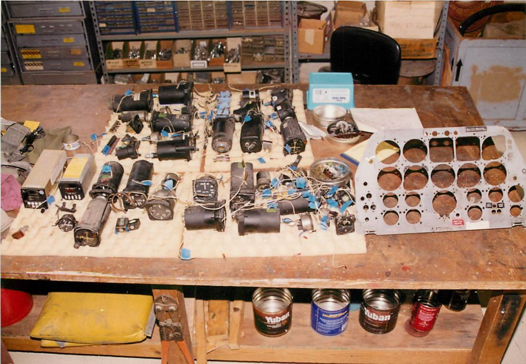 Instruments and panel, before restoration
