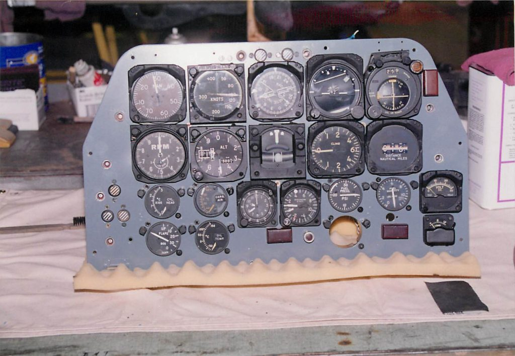 Instruments and panel, after restoration