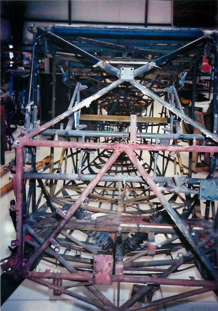Fuselage frame, before restoration