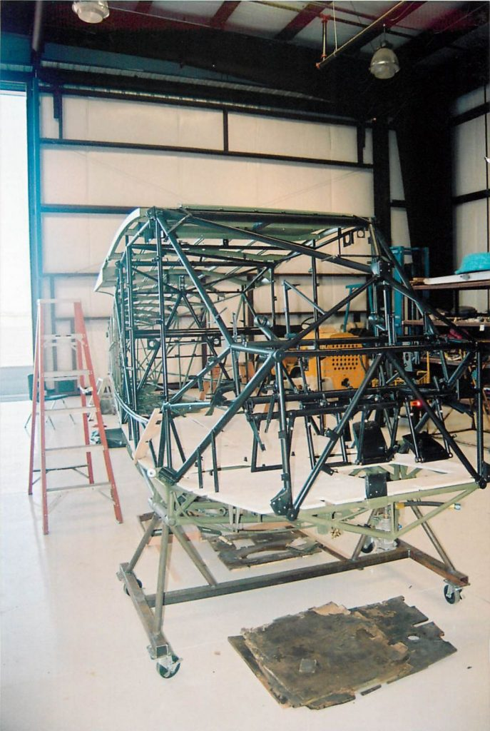 Fuselage frame, installing new wood flooring
