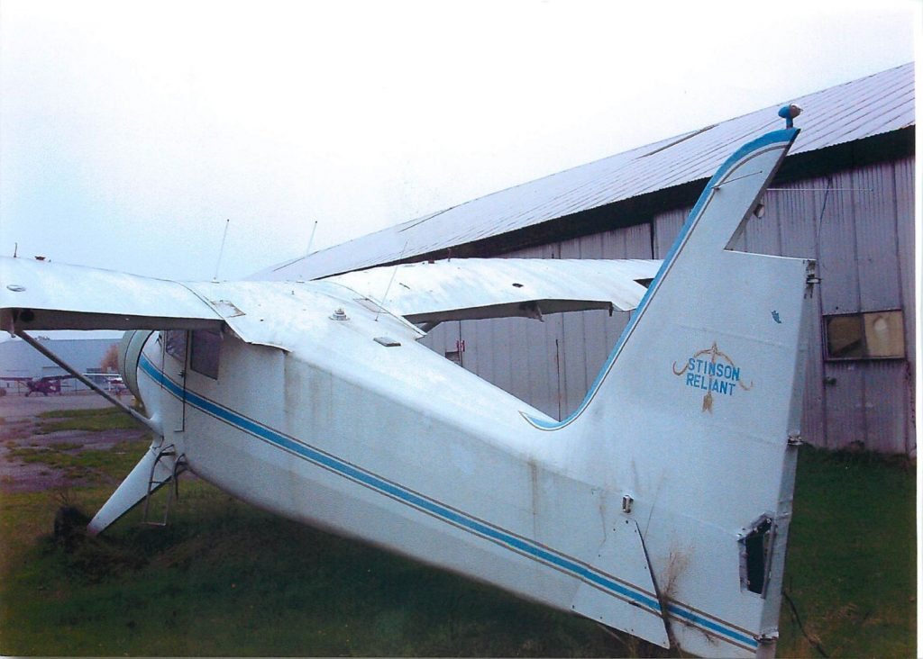 Stinson V-77 before restoration