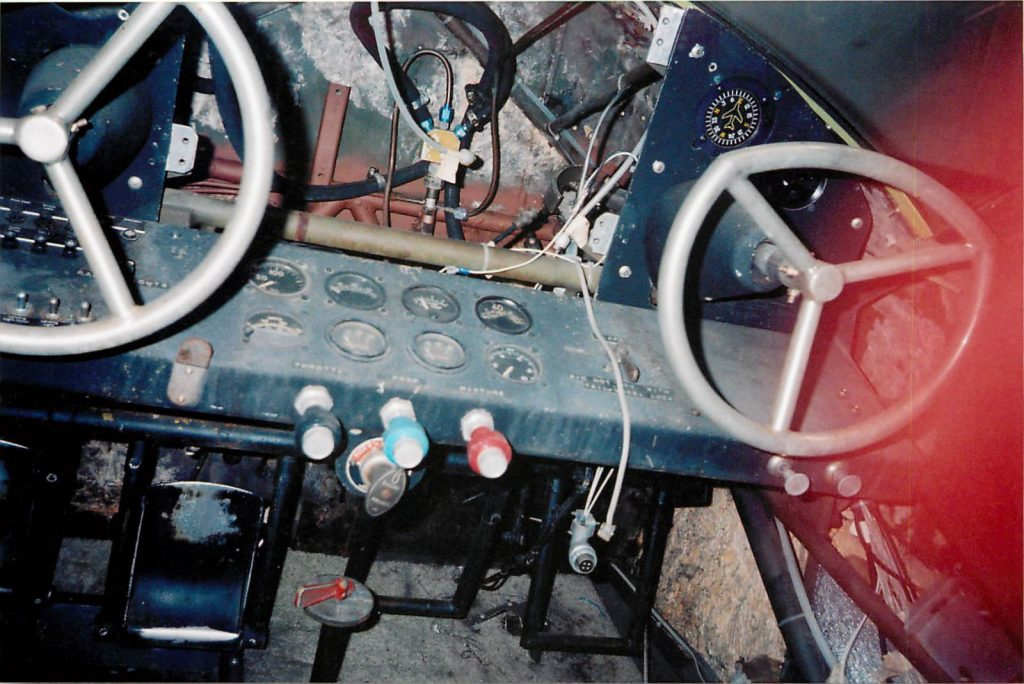Cockpit, before restoration