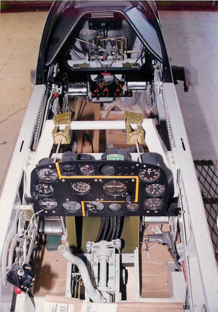 Cockpit, in restoration process