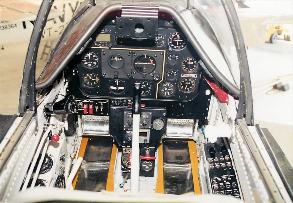 Forward cockpit, after restoration