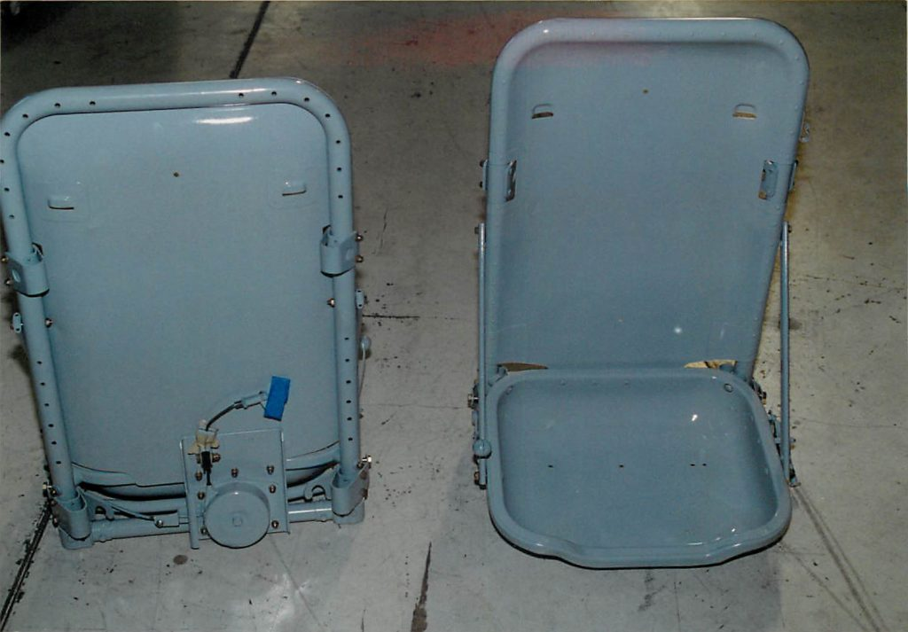 Seats, after restoration