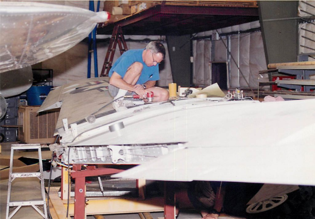 Wing, in restoration process