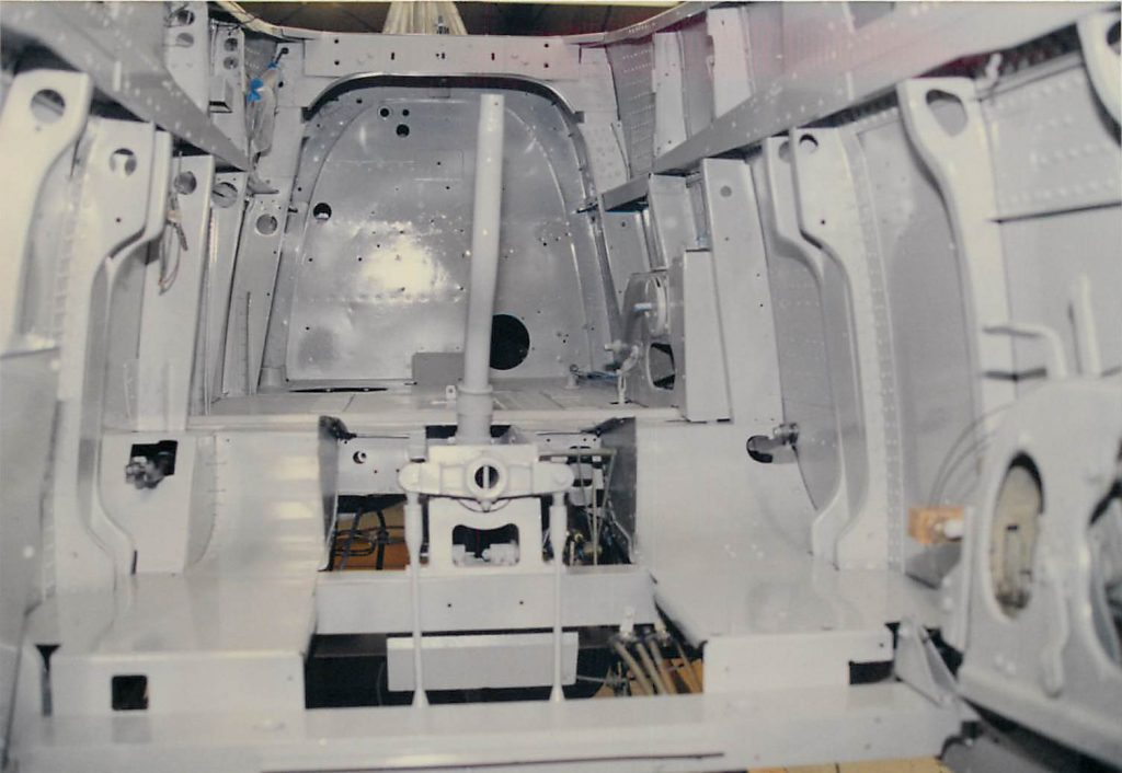 Cockpit, after paint