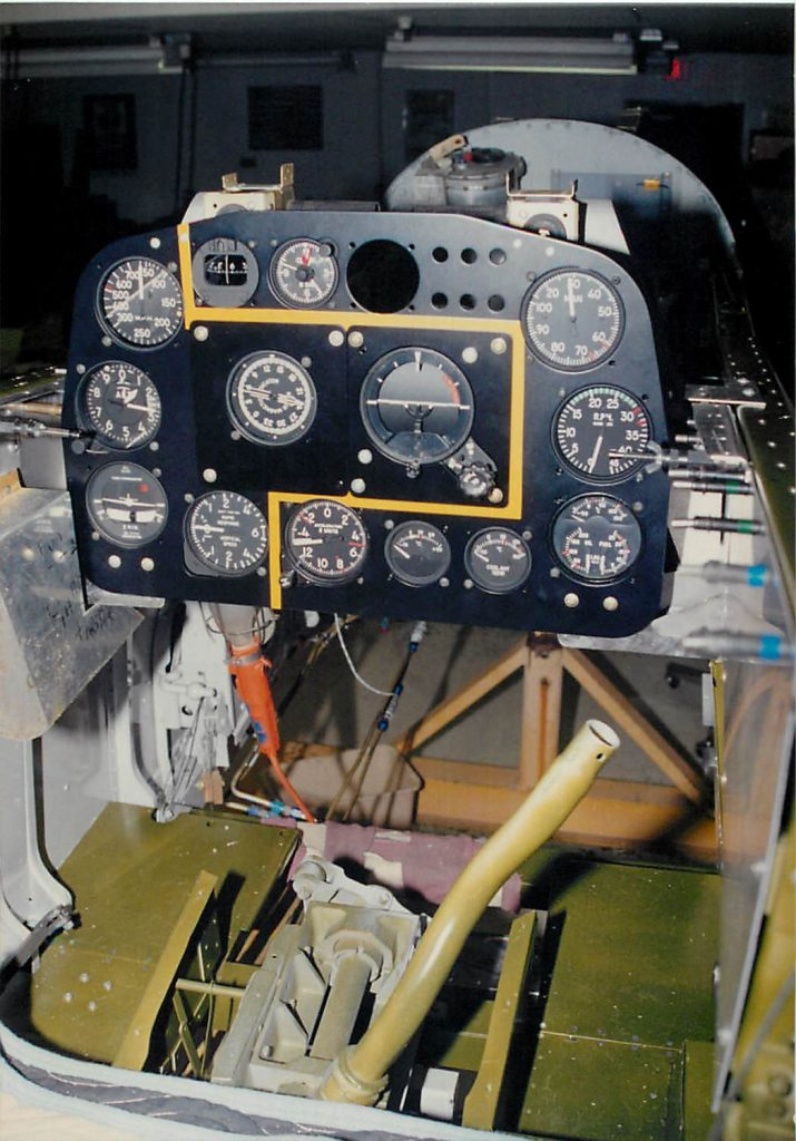Installation of restored instrument panel and instruments