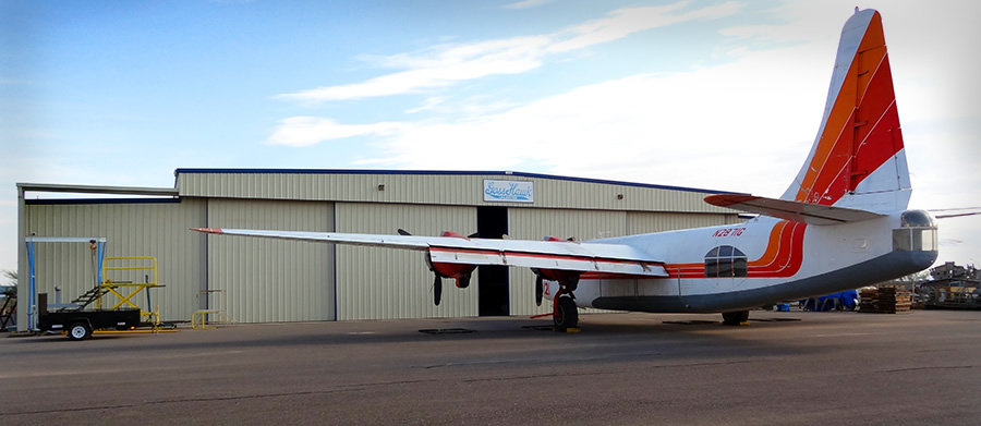 Privateer outside of hangar on the GossHawk ramp