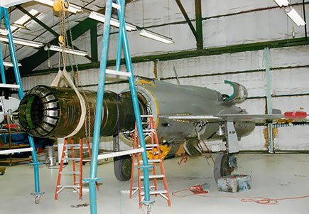 Installing afterburner on the Mikoyan-Gurevich MiG 21
