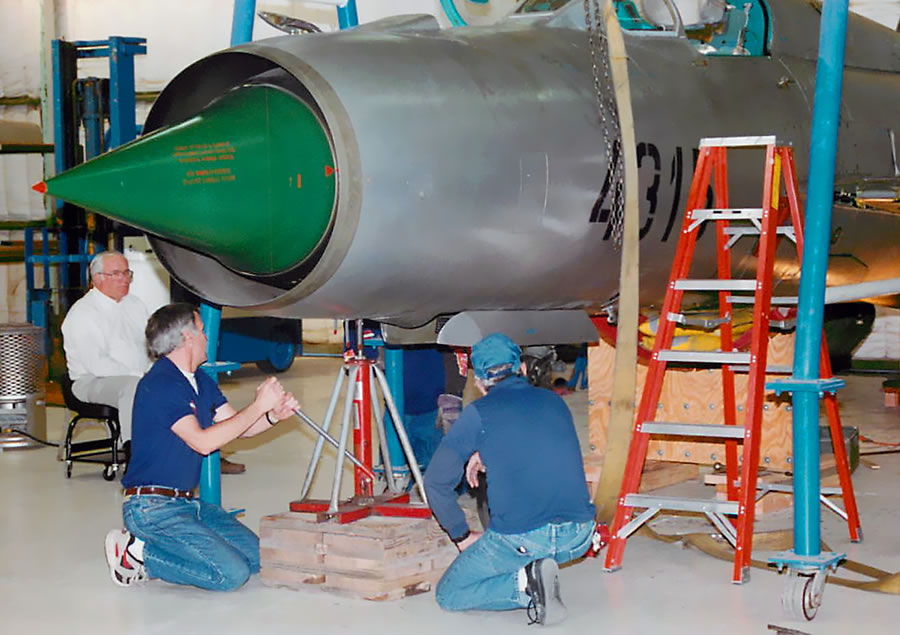 Assembling a MiG 21 for Doug Champlin's collection