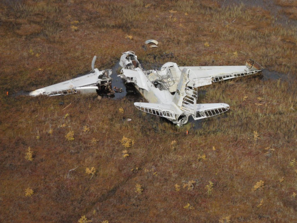 A-20 crash site in Labrador, Canada
