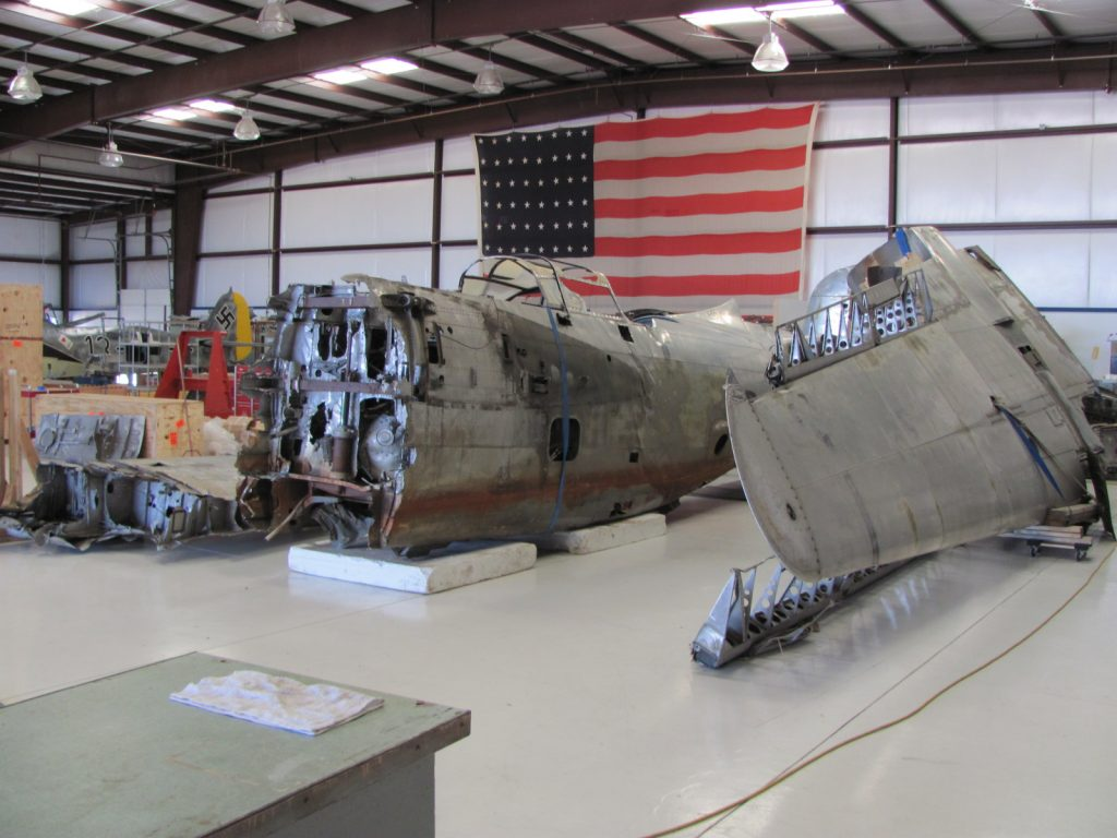 A-20 components at GossHawk, awaiting a new owner