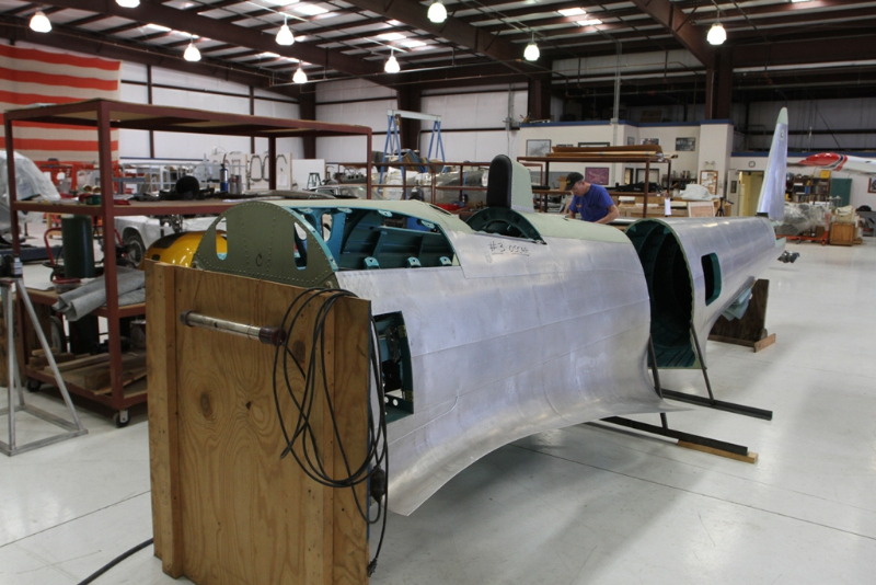 Fuselage, in fabrication process