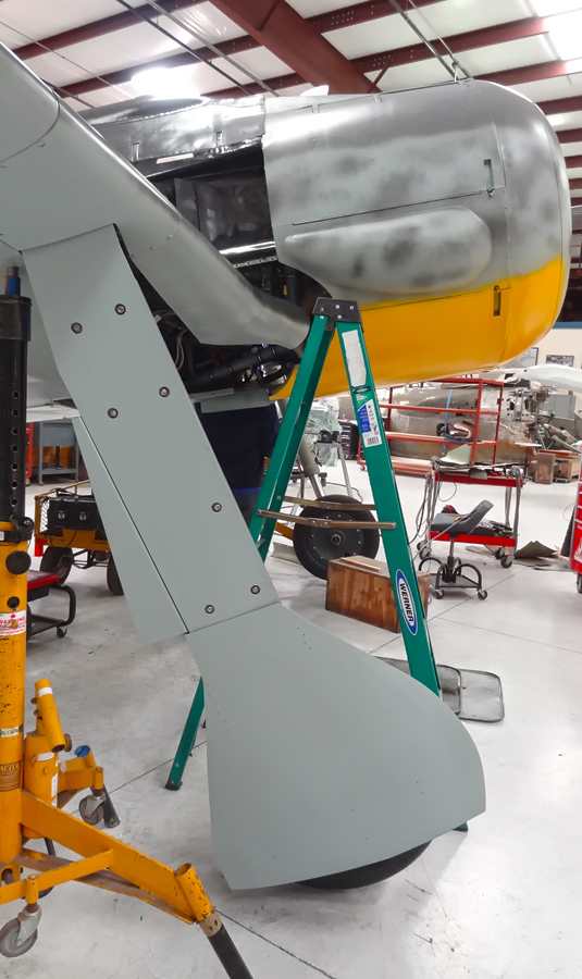 Landing gear door, after paint